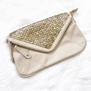 Urban Outfitter Stud Faux-leather Envelope Clutch
